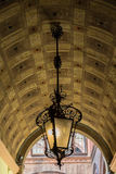 Lamp in the Arcades of Bologna Emilia Romagna Italy.  Stock Photos