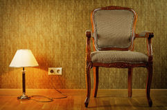 Lamp And Armchair Stock Images