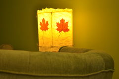 Lamp, artistic product in the living room, an evening with a glass Stock Images