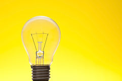 Lamp as yellow background royalty free stock image