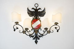 Lamp with austrian eagle and colors Royalty Free Stock Image