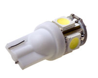 Lamp for auto with 5 SMD LEDs Royalty Free Stock Images