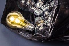 Lamp in bag Royalty Free Stock Image