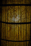 Lamp of wood. Lamp is bamboo of  wood Royalty Free Stock Photo