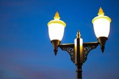 Lamp of Bangkok. Metallic castle Stock Photos