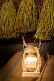 Lamp in barn Royalty Free Stock Photo