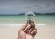 Lamp and Beach energy environment Royalty Free Stock Images