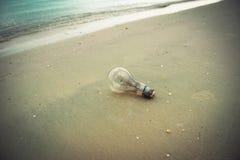 Lamp on beach Stock Image