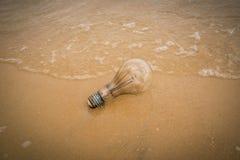 Lamp on beach Royalty Free Stock Photos