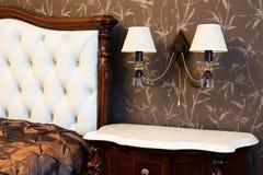 Lamp at a bed Royalty Free Stock Photos