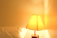 Lamp in bed room Royalty Free Stock Photos