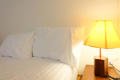 Lamp in bed room Stock Image