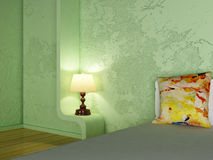 A lamp in the bedroom Stock Images