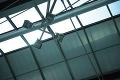 Lamp bij de luchthaven in Bangkok Stock Fotografie