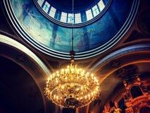 Lamp bij kerk Royalty-vrije Stock Afbeeldingen