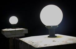 Lamp bij nacht stock afbeeldingen