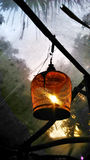 Lamp in bird cage Royalty Free Stock Photo