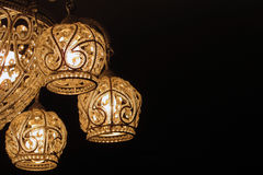 The lamp. On a black background Stock Images