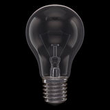 Lamp Black Background. One lamp bulb isolated on black background Royalty Free Stock Image