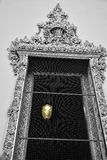 The Lamp in Black and White Door. Wat poo Thailand Royalty Free Stock Images