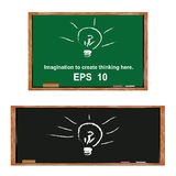 Lamp on blackboard. Royalty Free Stock Photos