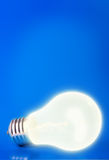 Lamp on blue royalty free stock image