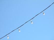 Lamp on blue sky Royalty Free Stock Photography
