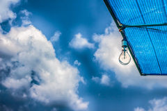 Lamp on blue sky Royalty Free Stock Image
