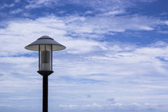 The lamp  blue sky background Royalty Free Stock Images