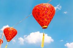 Lamp in blue sky Stock Photo