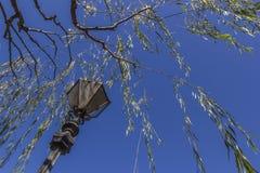 Lamp with Blue sky Stock Photos