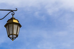 Lamp in the blue sky Royalty Free Stock Image
