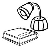 Lamp book outline Royalty Free Stock Images