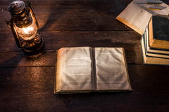 Lamp and books Royalty Free Stock Photo