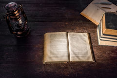 Lamp and books Royalty Free Stock Images