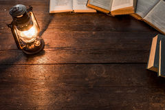 Lamp and books Stock Image