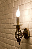 Lamp bracket. Wall candle-style lamp bracket Stock Image