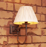 Lamp on the brick wall Royalty Free Stock Photos