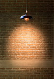 Lamp at brick wall Royalty Free Stock Images