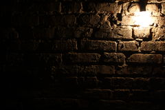 Lamp on the brick wall background Royalty Free Stock Photos