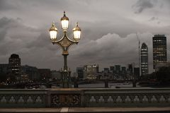 Lamp on the bridge Royalty Free Stock Photography