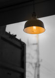 Lamp. Bright lamp in coffee shop Royalty Free Stock Images