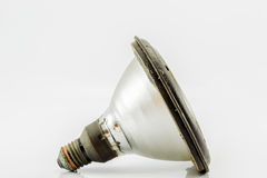 Lamp. Broken light bulbs tend to cause harm in its use Stock Image