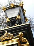 Lamp, Buckingham Palace. Lamp on the gates of Buckingham Palace royalty free stock images