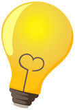 Lamp bulb. Illustration of isolated bulb lamp on white Royalty Free Stock Photography