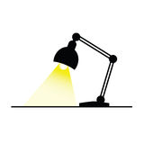 Lamp with bulb color vector Stock Images