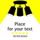 Lamp bulb Icon.Place for your text. stock illustration