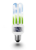 Lamp bulb with solar panels. Stock Images