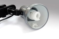 Lamp with a burneout bulb Stock Image