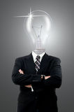 Lamp businessman Stock Photography